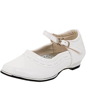 Weisse Mädchen Ballarina Schuhe 4 Varianten