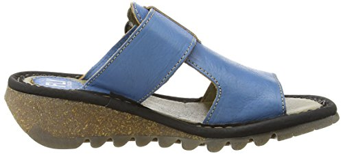 Damen Sandalen black London Turquoise Durchgängies Tute azure Fly Plateau wqRWBHOnT