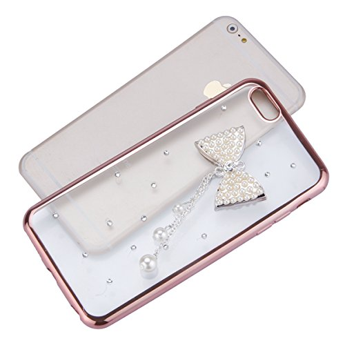iPhone 6 Hülle,iPhone 6s Case,iPhone 6 Bling Case - Felfy Ultradünne Transparent Gel TPU Silikon Diamond Skin Bling Glitte Kristall Schutzfolie Glitzer Silber Silikon Crystal Case Durchsichtig Schutzh C07