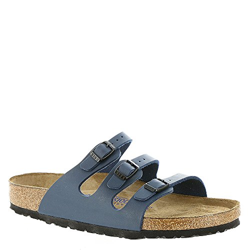 BIRKENSTOCK Womens Florida Blue Birko-Flor Sandals 37 EU Buckle Open Toe Sandal