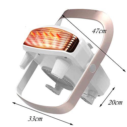 AZBYC Wall-mounted Fan Heater,electric Heater For Home 800/1200/2000W Waterproof Fan Heater, White Img 4 Zoom