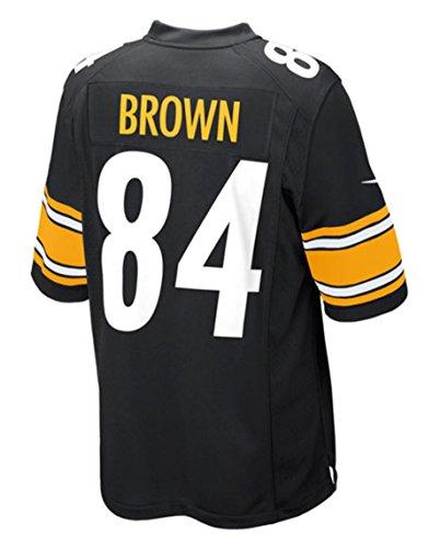Antonio braun Pittsburgh Steelers schwarz Nike Game Youth Jersey, Jungen Mädchen, schwarz (Jersey Jugend Steelers)