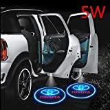 #10: Premium Quality Logo LED Shadow Light for Toyota New Fortuner 2016 (Set Of 4Pcs)