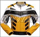 4LIMIT Sports Motorradjacke ADRENALIN Leder gelb-schwarz