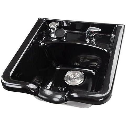 Elite–Shampoo ciotola con collo rubinetto Gel resto, in acciaio inox,