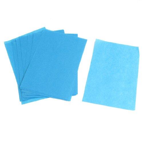 Sourcingmap Lot de 100 feuilles de papier absorbant pour le visage Bleu
