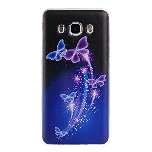 Voguecase® für Apple iPhone 7 4.7 hülle, Schutzhülle / Case / Cover / Hülle / TPU Gel Skin (Rosa Durchstochen) + Gratis Universal Eingabestift Tanzen Schmetterling 03