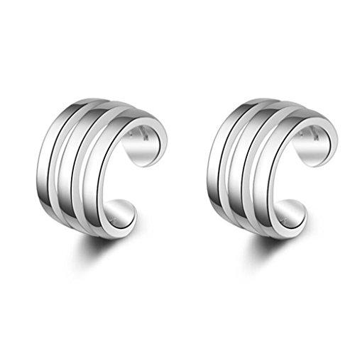 Wunhope OHrringe Damen Mädchen 925er Sterling Silber Kreis Kleiner Ohrclips