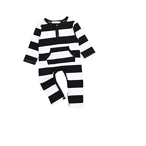 Samber Unisex Baby Animals Stripe Romper Long Sleeve Jumpsuit (12-24 months)