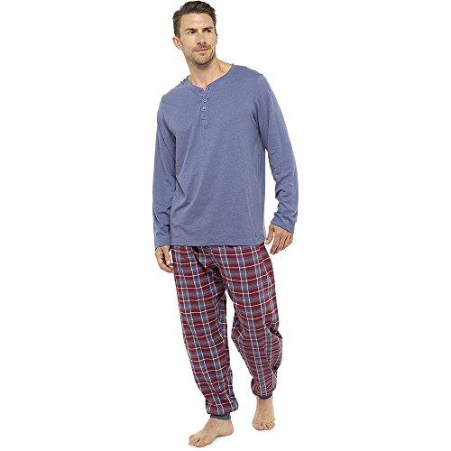 Neue Männer weichen Pyjama perfekte Sommer Frühling Loungewear atmungsaktive Hose Hose M-XXL - verrückt Verkauf während Lager LASTS! (M, blau) (Loungewear Pjs)