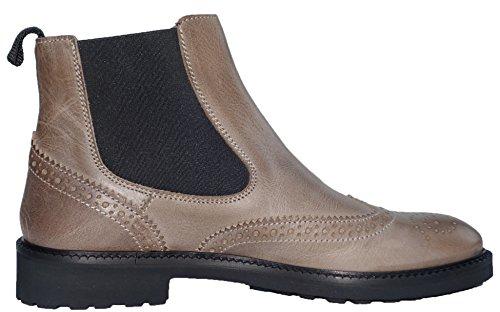Gallucci 5078b Chelsea Boots Bottines pour femme avec motif Budapest Unisexe Taupe