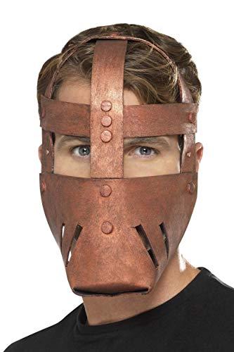 Smiffys Herren Römische Kampf Maske, One Size, Bronze, 21997