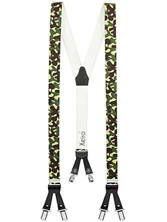 Bretelles de haute qualité avec 6 clips - Edelweiss / Biere / Artisan Design (Armee)