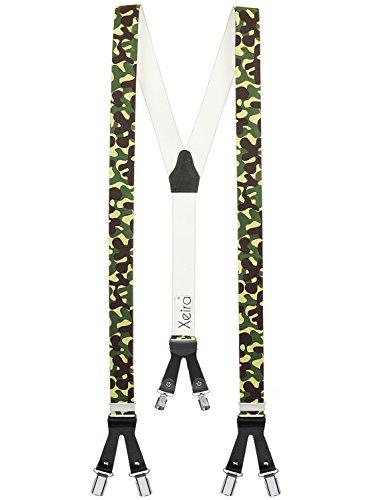 Xeira Bretelles de Haute qualité avec 6 Clips - Edelweiss/Biere/Artisan Design (Armee)