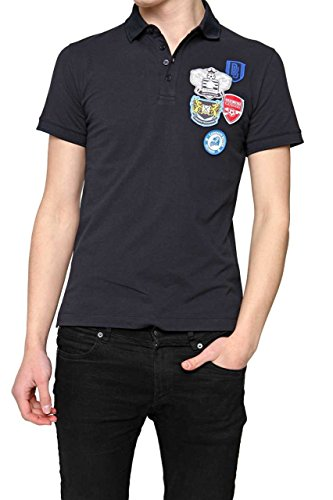 dirk-bikkembergs-polo-homme-couleur-bleu-fonce-taille-m