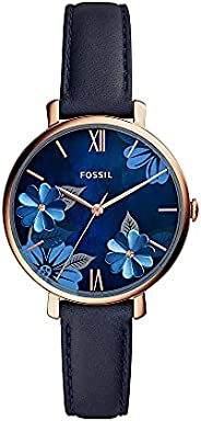 Fossil Womens Quartz Watch, Analog Display and Leather Strap ES4673