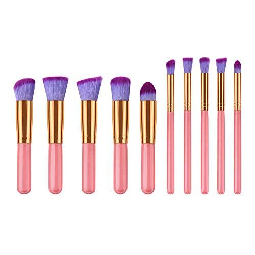 Chakil 1 Set Pinceaux Maquillage Pinceau à poudre Pinceau ombre à paupières Brosse de fondation Outils De Beauté size 16 * 12 * 1.4cm (Rose)