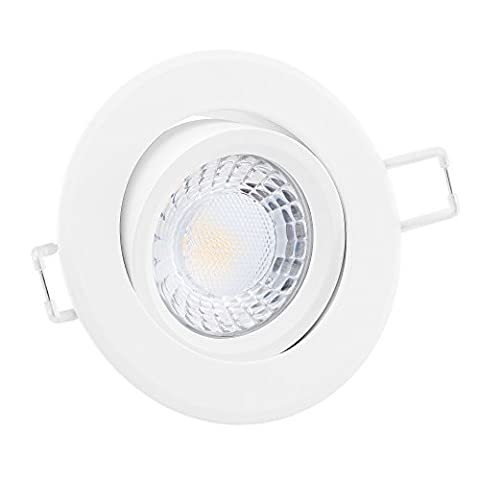 LUXVENUM®   1x dimmbare, ultra flache (25mm) LED Einbau-Strahler  