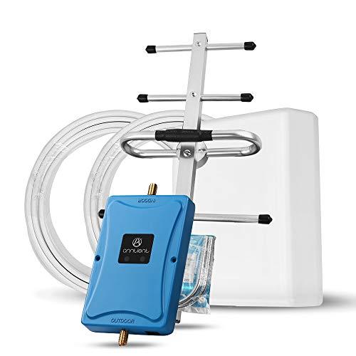 ANNTLENT GSM Verstärker 4G 2G Dual Band Signal Booster 800/900 MHz 70dB Handy Signalverstärker Repeater Kit 800-mhz-yagi-antenne