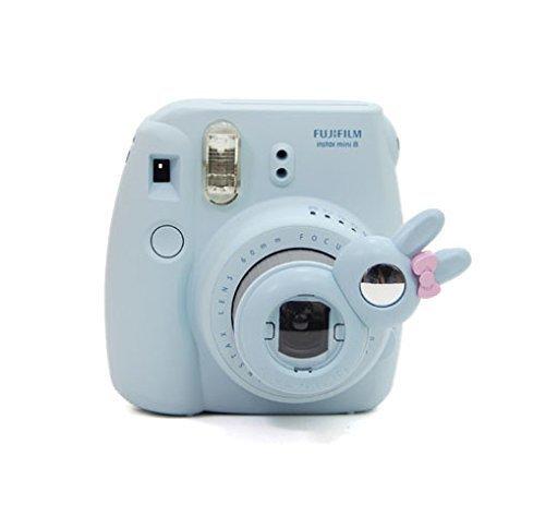 [Fujifilm Instax Mini 8 Selfie Lens] -- Lalonovo Rabbit Style Instax Close Up Lens with Self-portrait Mirror for Fujifilm Instax Mini 8 Instant Film Camera (Blue)