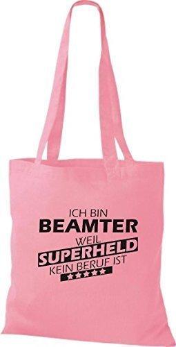 rosa Stoffbeutel ist Shirtstown Beamter kein weil Superheld bin Ich Beruf fqxzUAwC