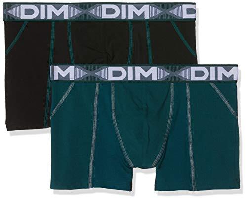 Dim 3D FLEX AIR BOXER X2 Boxer de bain Homme Multicolore (Vert Pacific/ Noir 8nv) Large (Taille fabricant:4) 2lot de2