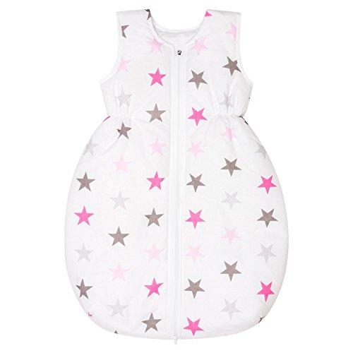 Dkaren Schlafsack für Kinder für jeden Tag aus 100% Baumwolle in jeder Größe verfügbar (74-134cm) (74cm, Weißen Sternen) (Sterne-kimono Baby)