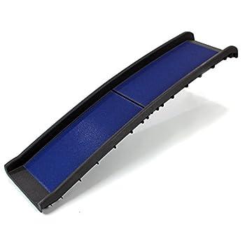 Rampe noir ou bleu en plastique, pliable en deux, forte et légère pour chien. (bleu)