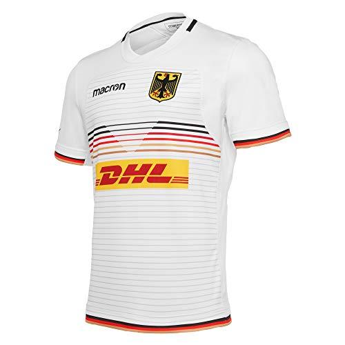 Macron Fanartikel Deutschland · DRV Rugby National Trikot Away · Bekleidung Oberteil Hemd Jersey Shirt Auswärtstrikot · Unisex Damen Herren Frauen Männer · World-Euro Series 2020 Erwachsene Größe XXL