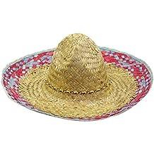 ff6450bbd4e5c LUOEM Sombrero de Paja Mexicano Sombrero Sombrero Hawaii Sombrero de Paja  Tejido Fiesta Estilo Disfrazarse Accesorio
