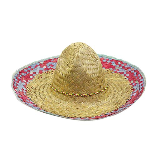 her Strohhut Sombrero Hut Hawaii gewebt Strohhut Fiesta Style Dressing Up Kostüm Zubehör für Hawaii Tropical Theme Party Supplies ()
