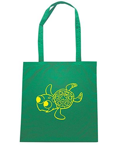 T-Shirtshock - Borsa Shopping FUN1108 crush baby turtle decal sticker 56999 Verde