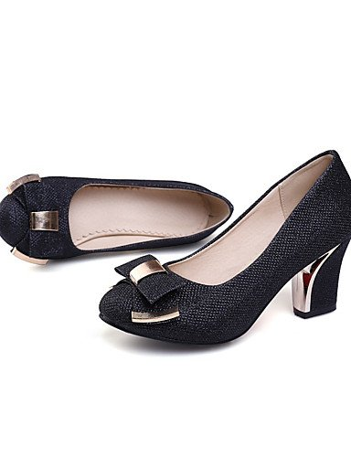 WSS 2016 Chaussures Femme-Bureau & Travail / Habillé / Soirée & Evénement-Noir / Argent / Or-Gros Talon-Talons-Talons-Paillette / Matières golden-us10.5 / eu42 / uk8.5 / cn43