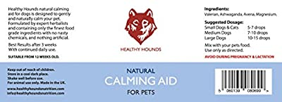 Healthy Hounds - 100% Natural Calming Aid Drops - Anxiety Aid Supplement for Dogs, Cats, Rabbits, Ferrets, Birds, Pets | Powerful Concentrated Formula With Valerian. For stress and improved behaviour. from Healthy Hounds