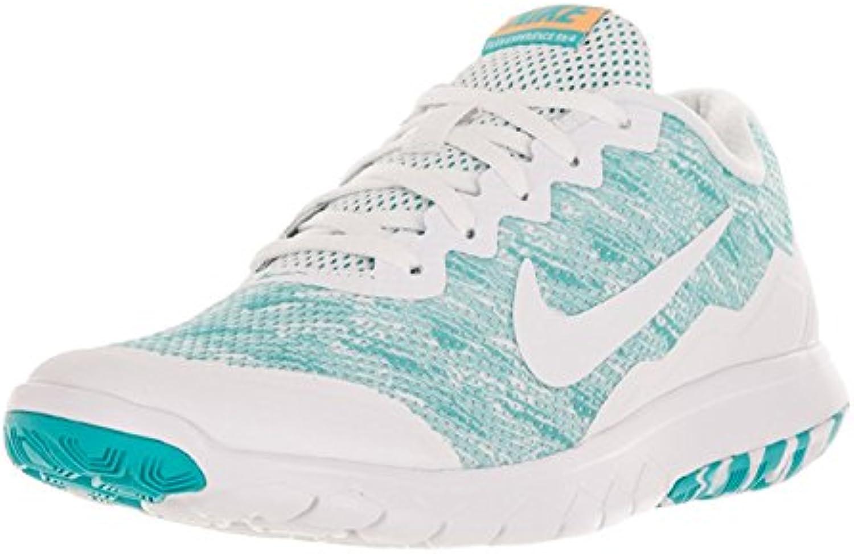Nike Women's Flex Experience Rn 4 Prem Gamma Blue/White/Lsr Orng/White Running Shoe 6 Women US, Gamma Blue/White...