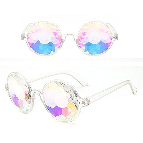 Scelet Kaleidoskop Rainbow Steampunk Goggles Kristall Linsen Schweißen Auge schützen Vintage Gläser