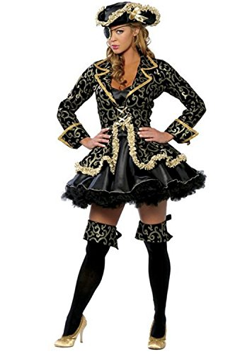 WLITTLE Halloween Kostüm Damen Halloween Cosplay Rollspiel Piraten Kostüm /Kostüm-Set `Piraten-Braut` für Karneval und ()