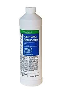bio-chem® HAAR-WEG Abfluss-Frei | 1000 ml I Abflussreiniger I Rohrreiniger I Rohrreinigung I Rohrfrei I Abflussrohr I Geruchskiller I Entfernt und löst hartnäckigste, organische Verstopfungen
