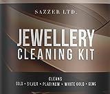 Kit per la pulizia dei gioielli, con panno, spazzolino, cestino e flacone di detergente da 236ml, per la pulizia di oro, argento, platino, oro bianco, opale, perle e pietre preziose