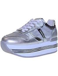 5bf18c968 APEPAZZA Zapatos Mujer Zapatillas Bajas con Plataforma RDP03   Metal Rubye