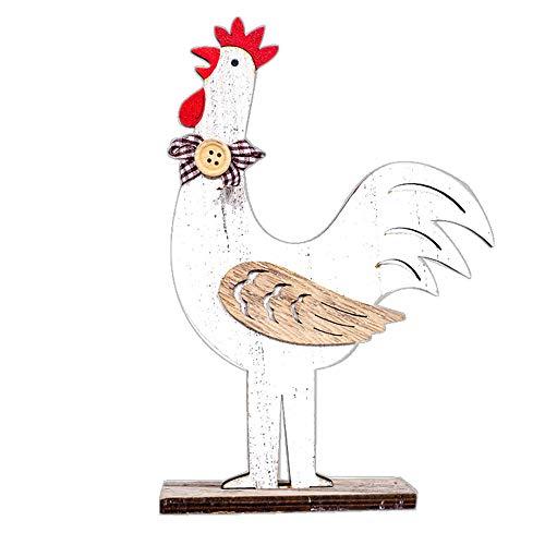 Osterdekorationen - Zariavo Wooden Cock Hen Shapes Ornamente Handwerk Geschenke