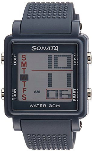 Sonata Super Fibre Digital Grey Dial Men's Watch -NH77043PP02