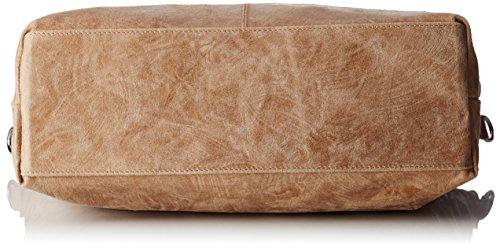 Chicca Borse 80055, Borsa a Tracolla Donna, 47x34x15 cm (W x H x L) Beige (Fango)