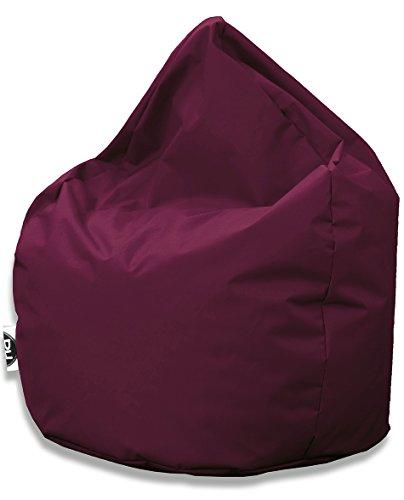 Kissenportal24 Sitzsack Tropfenform für In & Outdoor | XXL 420 Liter - Weinrot - in 25 versch. Farben und 3 Größen