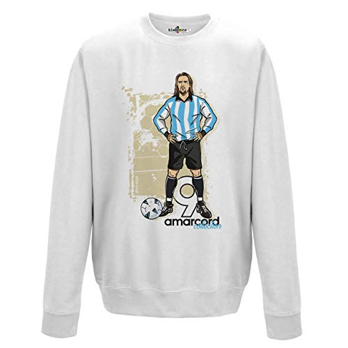 KiarenzaFD Amarcord Vintage Batigol Glory Argentina Albiceleste 2 Sweatshirt, KFG02613-XL-white, weiß, XL -