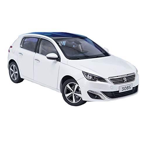 GAOQUN-TOY Modèle de Voiture en Alliage Dongfeng Peugeot 308S au 1/18 (Couleur : Blanc, Taille : 26cm*10cm*9cm)