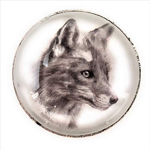 Set von 6 Glas und Stahl Woodland Animal Knöpfe von französischen Möbelbeschläge - Küche Schrank Tür Knöpfe, Schrank, Brust, Möbel, Schublade Griffe - Shabby Chic Keramik Porzellan -