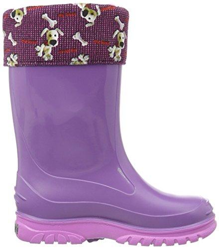 ROMIKA Bello,Bottes Hautes mixte enfant Violet - Violet (violet/rose 575)