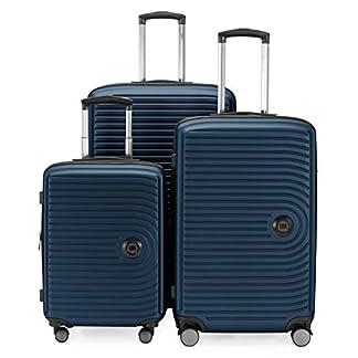 HAUPTSTADTKOFFER – Maletas Extensibles – Trolley Cabina de de 55 cm, Equipaje de tamaño Mediano 68 cm + Maleta Grande para Viaje 77 cm, cáscara Dura ABS, TSA,