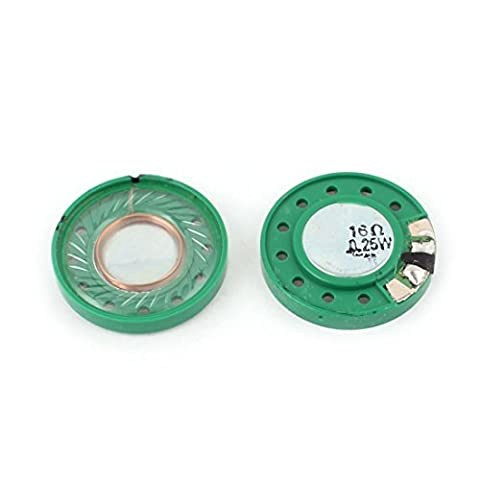 2 Pcs 0.25W 16Ohm 29mm Round Inside Magnet Electronic Speakers Trumpet